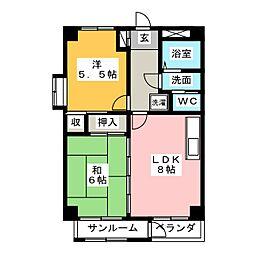 アーク302[5階]の間取り