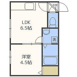エルムN23A棟[3階]の間取り
