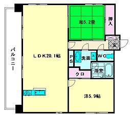 プレスタイル博多駅南II[7階]の間取り