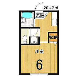 シャインハイツ三条[1階]の間取り