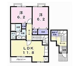 ラフィネシャトレーII番館[2階]の間取り