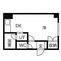 フォーゲル館[4階]の間取り