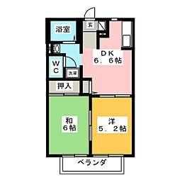 EVER GREEN B[2階]の間取り