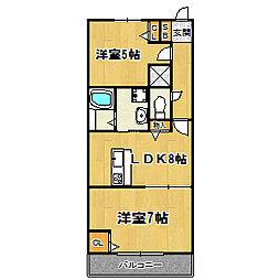 大阪府大阪市西淀川区姫島1丁目の賃貸アパートの間取り