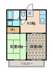 ハウスオブベア[2階]の間取り