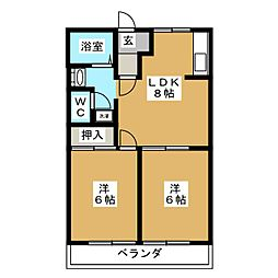 ソニアエクセル[2階]の間取り