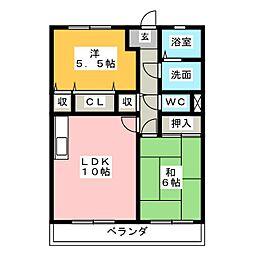 リマーニ江松[2階]の間取り