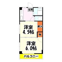 北村マンション[2階]の間取り