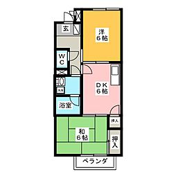 Peace House[2階]の間取り