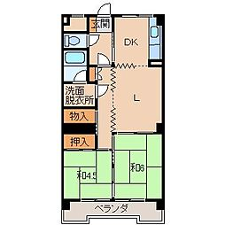 ヤマイチPLAZA黒田[3階]の間取り