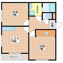 清本ハイツ[4階]の間取り