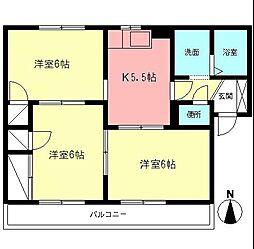 プリメール香川[2階]の間取り