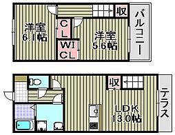 [タウンハウス] 大阪府泉佐野市鶴原 の賃貸【/】の間取り