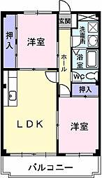 埼玉県春日部市備後西3丁目の賃貸マンションの間取り