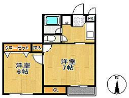 マイカハウス[2階]の間取り