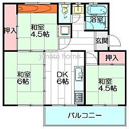 箕面粟生第2住宅39号棟[3階]の間取り