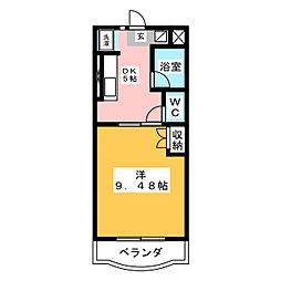マンションフレサ[2階]の間取り