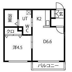 mia casa平岸[3階]の間取り