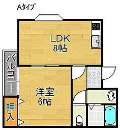 KIRISIMAハイツ[4階]の間取り
