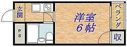 マンション5番館[402号室]の間取り