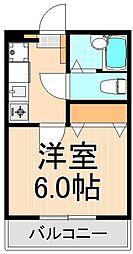 東京都足立区千住5丁目の賃貸アパートの間取り