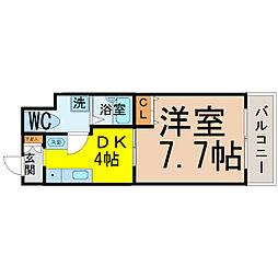 T's Dream名駅(ティーズドリーム名駅)[1002号室]の間取り