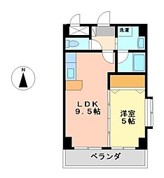 クオン千原[5階]の間取り
