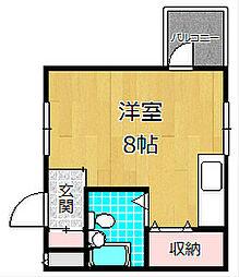 コーポニシキ[3階]の間取り