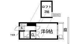 マンショントニオー能勢口第1[1階]の間取り