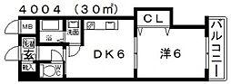 ヴァルカン城山II[305号室号室]の間取り