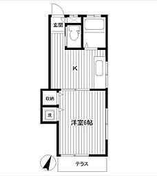 サミーハイツ[2階]の間取り