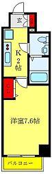 クレヴィスタ西巣鴨 4階1Kの間取り