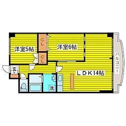 北海道札幌市東区本町二条8丁目の賃貸マンションの間取り