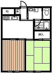静岡県裾野市桃園の賃貸マンションの間取り