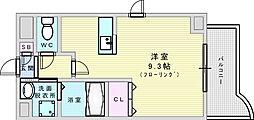 Osaka Metro今里筋線 井高野駅 徒歩5分の賃貸マンション 3階ワンルームの間取り