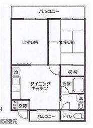 M&K湘南II[2階]の間取り