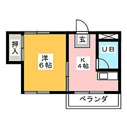 高蔵ビル[1階]の間取り