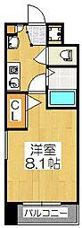 Shine蛸薬師(シャイン蛸薬師)[8階]の間取り