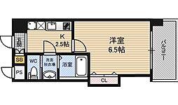 ラグゼ新大阪EAST2 4階1Kの間取り