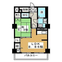 レジデンスカープ札幌[18階]の間取り