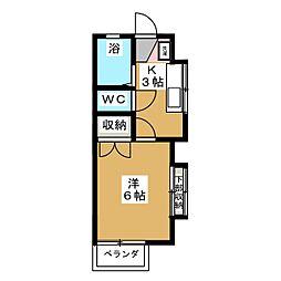 ハイツKY[1階]の間取り