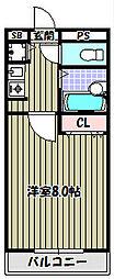 ベールソワレ三国ヶ丘[3階]の間取り