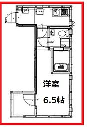 フィカタアヤセ 2階1Kの間取り