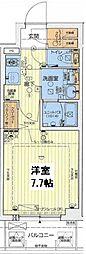 レオンC大阪ドームシティ 8階1Kの間取り