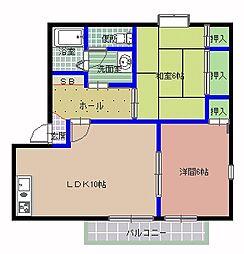 スクールニアハウス B棟[1階]の間取り