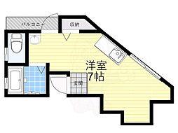 T-House守口 2階ワンルームの間取り