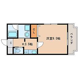 静岡県静岡市清水区大手1丁目の賃貸マンションの間取り