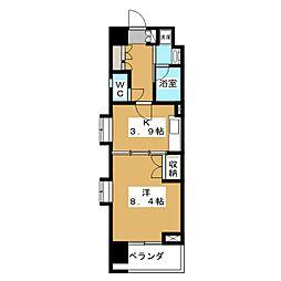 ベラジオ五条堀川[4階]の間取り