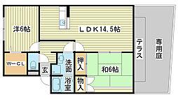 ロイヤルグレース花田C棟[C102号室]の間取り
