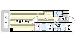 SEDNA鶴見緑地[406号室]の間取り